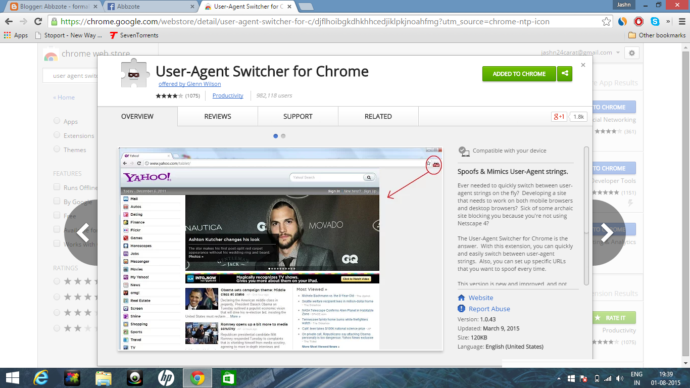 User-Agent Switcher for Chrome