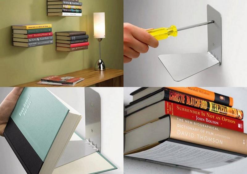 Полки-невидимки для книг