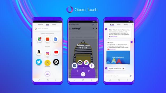 Opera Touch на Android